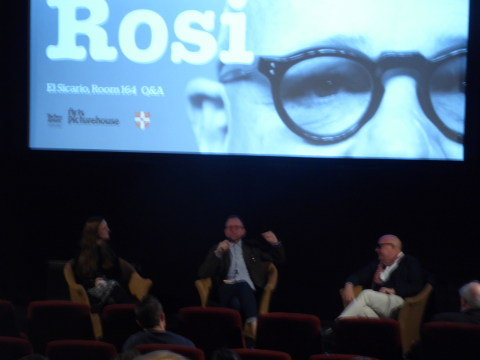 Gianfranco Rosi film-maker Q&A in Cambridge 21 May 2017.